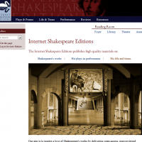 AWED - Internet Shakespeare Editions - screenshot