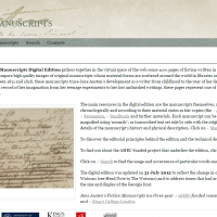 AWED - Jane Austen's Fiction Manuscripts Digital Edition - screenshot