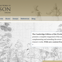 AWED - The Cambridge Edition of the Works of Ben Jonson Online - screenshot