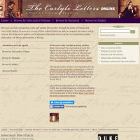 AWED - The Carlyle Letters Online - screenshot