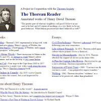 AWED - The Thoreau Reader: Annotated Works of Henry David Thoreau - screenshot