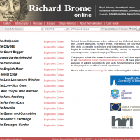 AWED - Richard Brome Online - screenshot