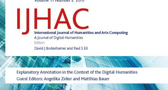 IJHAC Special Issue on Annotating