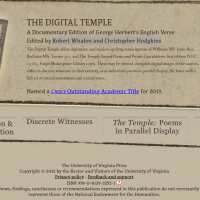 AWED - The Digital Temple – A Documentary Edition of George Herbert's English Verse - screenshot